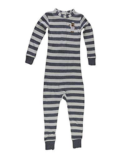Little Keeper Sleeper Boys' Long Sleeve Zippered Back Inescapable Pajamas (3T, Heather Gray/Cream) ()