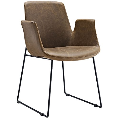 Cheap Modway Aloft Dining Leather Armchair, Brown