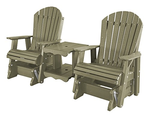 Heritage Glider - Little Cottage Company LCC-108 Heritage Double Rock-A-Tee Glider, Olive