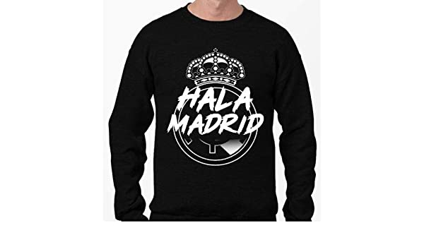 Positivos Sudaderas Jersey Sudadera HALA Madrid diseño Blanco. - M: Amazon.es: Hogar