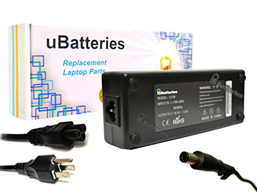 UBatteries AC Adapter Charger Dell Vostro V13 M582J 0M582J OM582J M585J 0M585J OM585J MK911 0MK911 OMK911 330-3614 330-3615 330-4279 - 130W, 19.5V