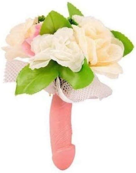 Dream s Party Bouquet Sposa con Manico Pene e Fiori per Addio al Nubilato Gadget Idea scherzi Regalo di Matrimonio