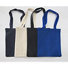 Great Quality Canvas Tote Bags Book Lovers by GEORGIABAGS (3, BLACK)