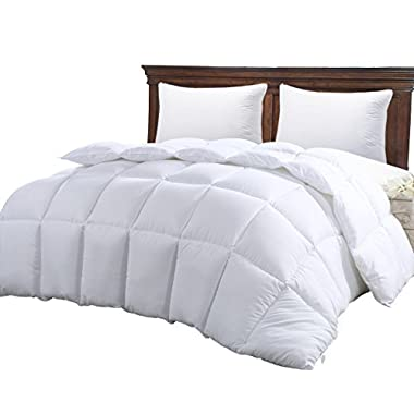 Queen Comforter Duvet Insert White - Hypoallergenic, Plush Siliconized Fiberfill, Box Stitched, Down Alternative Comforter, Protects Against Dust Mites and Allergens by Utopia Bedding