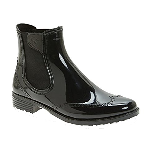 Vienna 9 M Women's Black Water Resistant Brogue Boot Size Chelsea US dav TSawBxqq