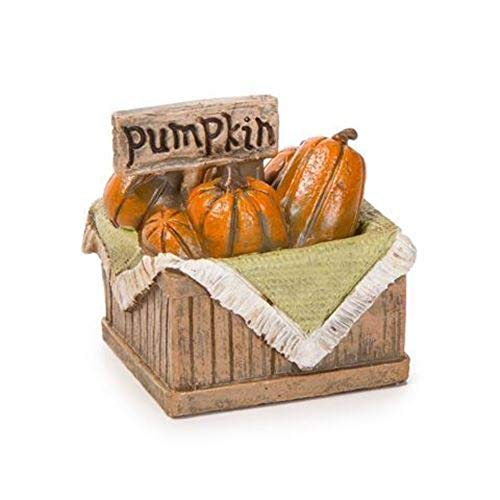 TM Miracle Store Fairy Garden Dollhouse Lawn Yard Decoration Resin Miniature Ornament Basket Filled Pumpkins Halloween -
