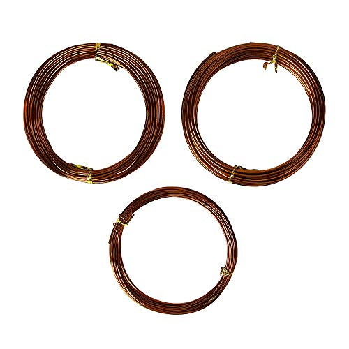 (Quality Bronze Long Lasting Bonsai Training Wire Set of 3 Sizes - 1.0mm, 1.5mm, 2.0mm, Corrosion and Rust Resistant (32 Feet Each Size))