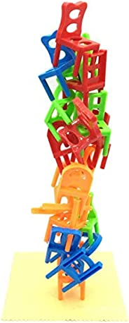 Eariy Chairs Stacking Tower Balancing Game 18 Chair Toys Set, Children Stack Up Chairs Toy, Desk Play Game Toy