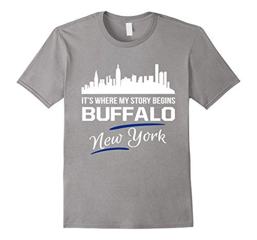 Mens It's Where My Story Begins Buffalo New York T-Shirt XL - Buffalo Stores Ny