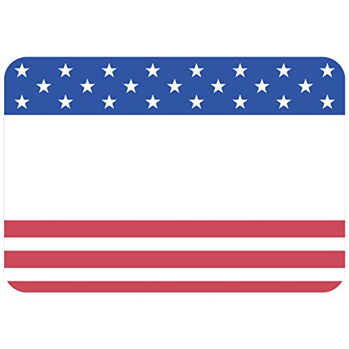 Avery Premium American Flag Name Tags, No Lift No Curl, 36 Handwriteable Name -