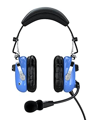 FARO G2-ANR Premium ANR Pilot Aviation Headset with Mp3 Input, Blue