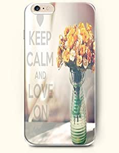 iPhone 6 Case,iPhone 6 (4.7) Hard Case **NEW** Case with the Design of keep calm and love on - Case for iPhone iPhone 6 (4.7) (2014) Verizon, AT&T Sprint, T-mobile
