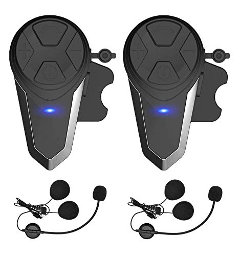 THOKWOK Motorcycle Bluetooth Headset,BT-S3 1000m Helmet Headphones for Snowmobile Motorcycle Bluetooth Communication System Ski Intercom Up to 3 Riders(Pack 2)