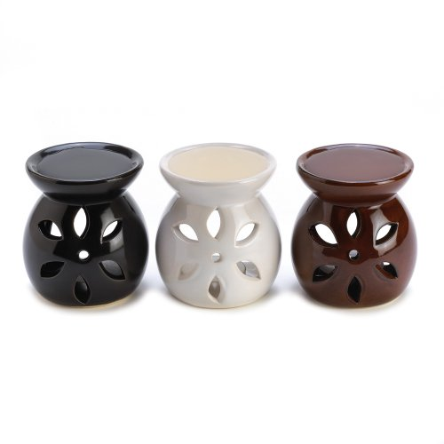 Gifts & Decor D1292 Mini Oil Warmer Trio, Multicolor