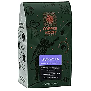 Copper Moon Sumatra Blend, Dark Roast Coffee, Whole Bean, 2 lb.