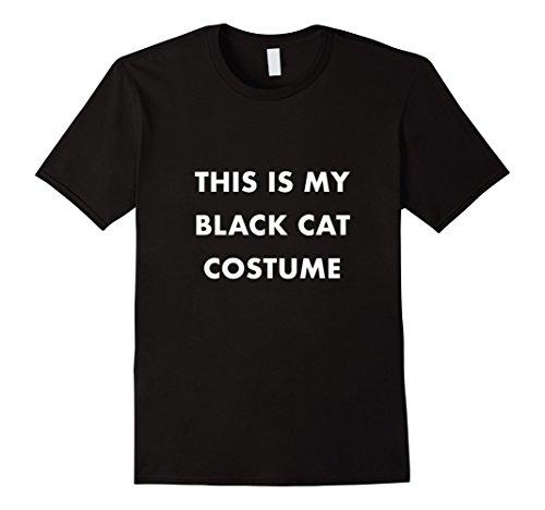 Mens Black Cat Costume T-shirt Easy DIY Halloween Costume 3XL (Diy Cat Costume For Men)