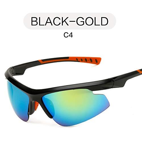 Mjia Sol Deportivas GOLD Gafas Gafas sunglasses Libre de Aire nbsp;Sol nbsp;Tendencia Deportivas al Moda de Gafas BLACK Negro nbsp;Gafas de Hombre 01xY1rwRq