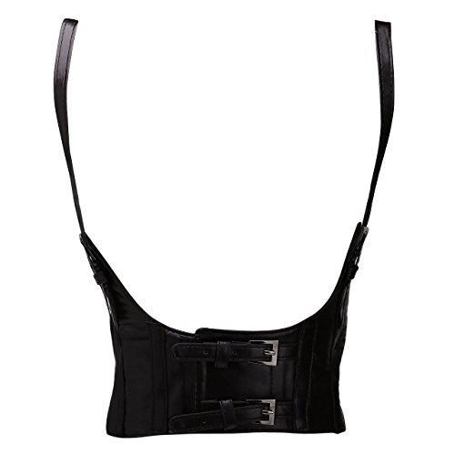 CHIC DIARY Women Sexy Punk PU Leather Elastic Wide, used for sale  Delivered anywhere in USA