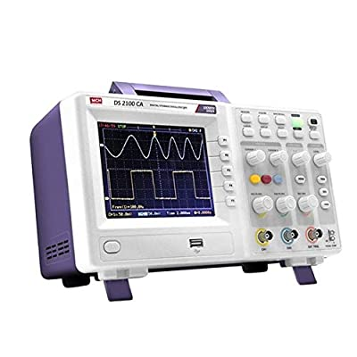 High Precision Digital Oscilloscope Handheld Portable Analog Oscilloscope 100MHz Car Oscilloscope Home Improvement Electrical (Size : 110v)