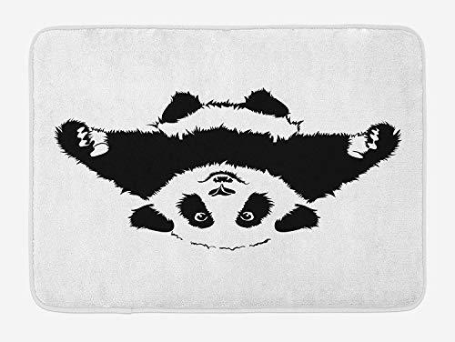 ZKHTO Panda Bath Mat, Funny Panda Wants to Hug and Cuddle Adorable Friendly...