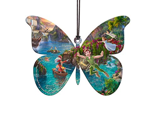 Trend Setters Disney Peter Pan Butterfly Shaped Hanging Acrylic - Thomas Kinkade Art ()
