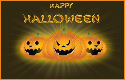 Jack O' Lantern Pumpkins - Happy Halloween -