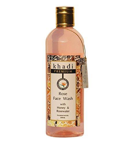 Khadi Rose Face Wash With Honey Rosewater Glycerine Olive Oil Lemon Juice 200 Ml