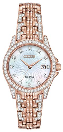 Citizen Women's Eco-Drive Watch with Crystal Accents, EW1228-53D ()