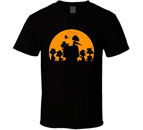 Snoopy Killing Peanut Gang Zombies Distressed T Shirt M Black