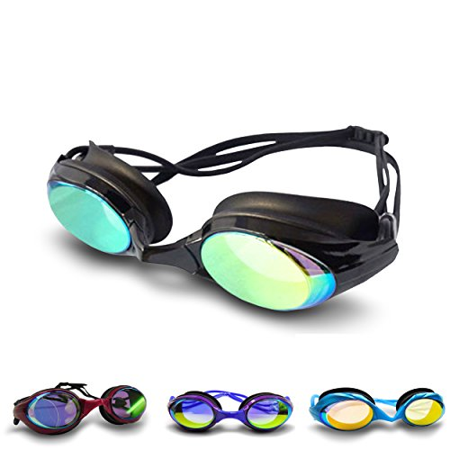 Swimtastic Pro X Swimming Goggles - Interchangeable Nose Pieces - Fog Resistant - UV Lenses - Double Head Strap - 100% Silicone Material Helps Provide Perfect Seal - Chemical, Heat & Tear-Resistant - Designed With The Professional Swimmer In Mind