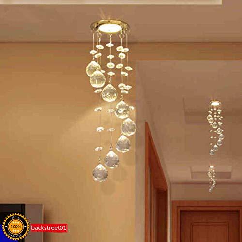FidgetKute 3W LED Crystal Ceiling Light Small Chandelier Lamp Pendant Fixture Hallway Decor Warm White Surface Mount by FidgetKute (Image #1)