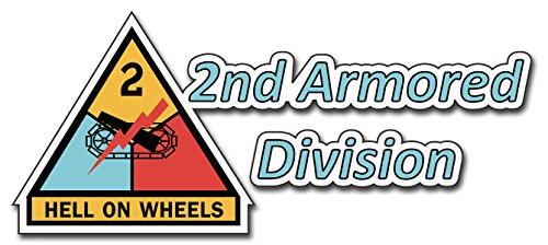 United States Army 2nd Armored Division Decal Bumper Sticker (Armored Division Decal)