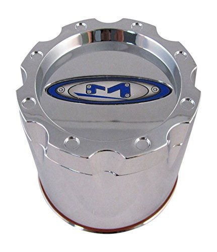 Moto Metal Rims (Moto Metal 353B136CH1 Chrome Wheel Rim Center Cap Push Thru)