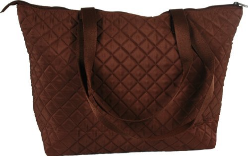 Quilted Shopper Tote - Chocolate - By Threadart (Quilted Shopper Tote compare prices)