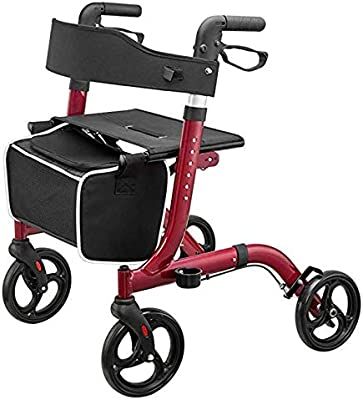 Xbshmw Andadores Portátiles para La Tercera Edad, Plegable Andador ...