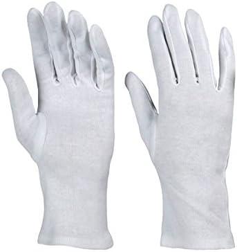 Guantes (algodón, 12 pares Guantes Maillot para guantes blanco ...