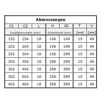 MKK 18113 Edelstahl Revisionsklappe Revisionst/ür Mit Schnappverschluss Edelstahl Geb/ürstet 150 x 150 mm