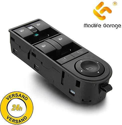 Madlife Garage 13228877 Fensterheberschaltelement Fensterheber Schaltelement Schalter Links Vorne Astra H L48 Zafira B A05 Van Auto
