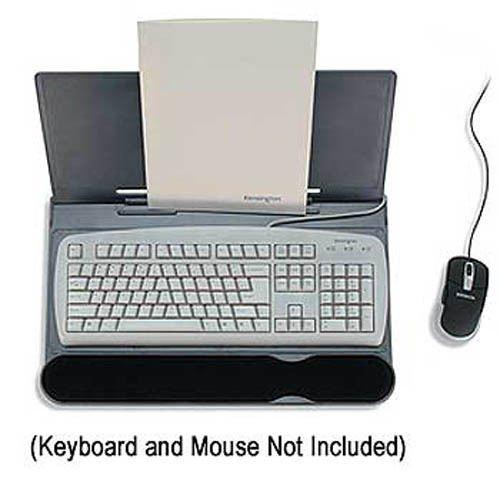 Kensington Adjustable Memory Foam Extended Keyboard Platform with SmartFit System and Document Holder (K62684US)