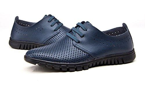 Koyi Chaussures de Sport pour Hommes Respirant Maille Respirante Cool Semelles Souples avec Dentelle Noire Blue 9VCN7Ky6zY