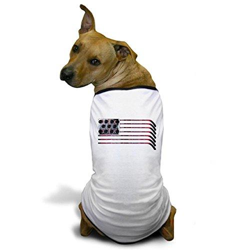 CafePress - US Hockey Flag Dog T-Shirt - Dog T-Shirt, Pet Clothing, Funny Dog Costume (Hockey Costume Dog)