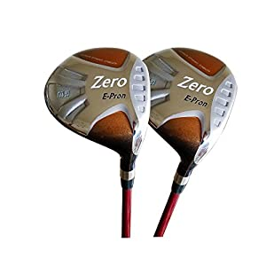 Japan Epron TR Gold Fairway Lady Golf Club Wood Set+Cover(15,18 Degree Loft,Regular Flex,Pack of 2)