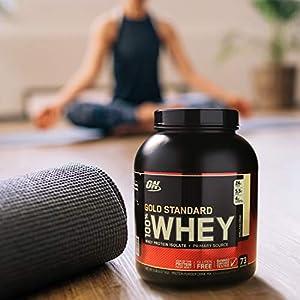 OPTIMUM NUTRITION GOLD STANDARD 100% Whey Protein Powder, Mocha Cappuccino 5LB