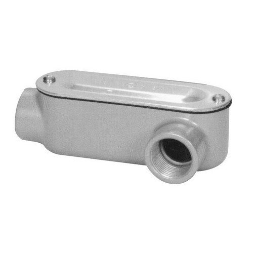 Morris 14115 Rigid Conduit Body, Aluminum, Type LL, Threaded with Cover and Gasket, 2