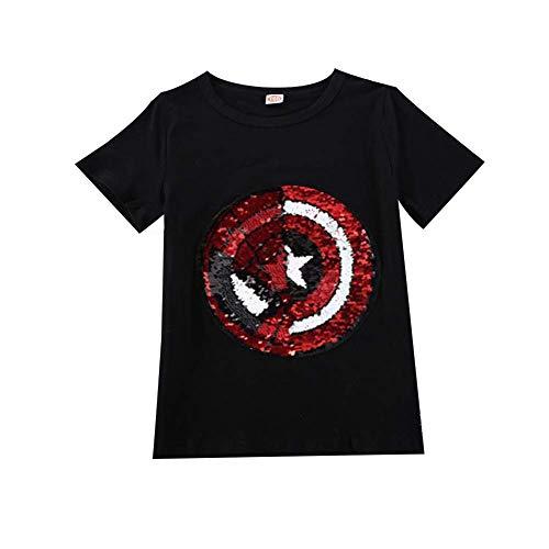 Frontiersman Las Camisetas con Lentejuelas de la Ropa de los niños se Pueden Transformar en Ropa, Camisetas Frescas y...