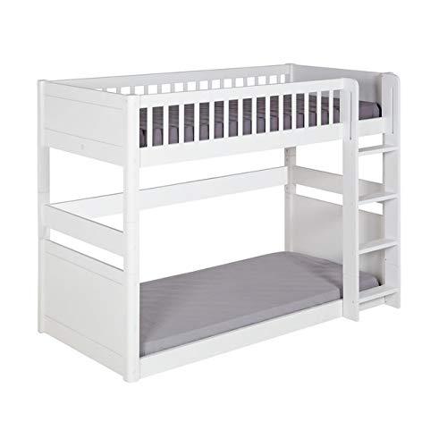 Juego de Cama litera Montessori Victoria con colchón blanco 90 x 190 cm