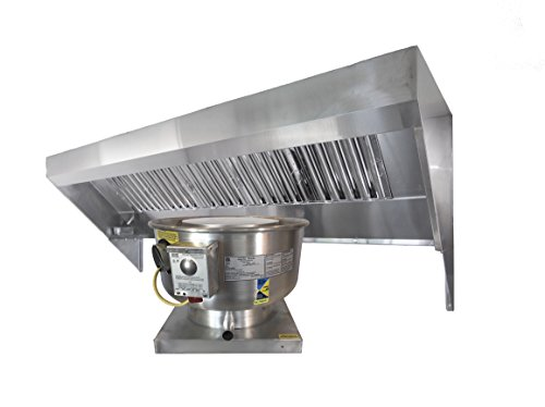 Concession Hood Exhaust Fan (4' Food Truck Concession Trailer Hood System – Includes Hood and Exhaust fan)