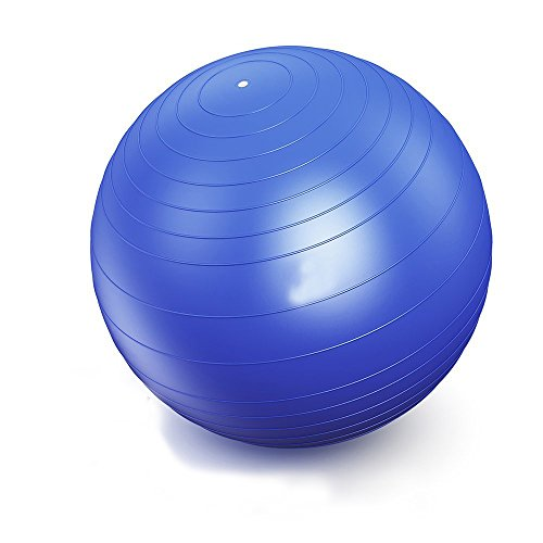 IEase Yoga Ball Static Strength Exercise Stability Ball with Pump Gym Ball 3 Sizes Multi-Colored,2000lbs Anti-Burst Birthing Ball