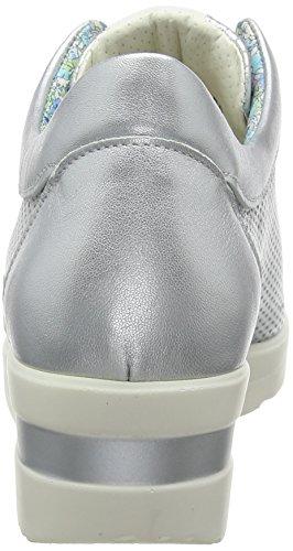 Melluso Para R20110e Mujer Plateado Zapatillas rzOqwr