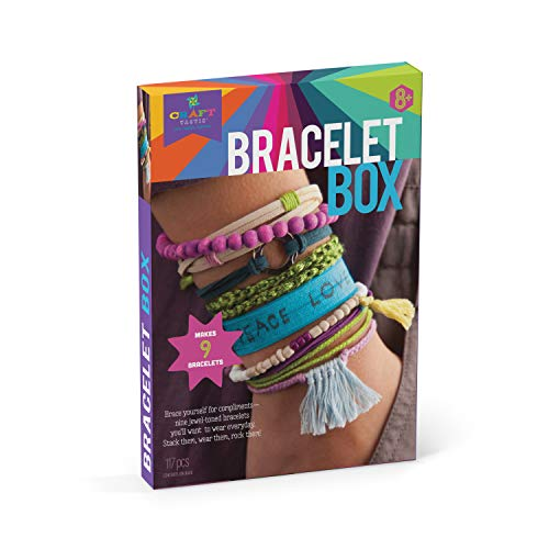 Craft-tastic - Bracelet Box - Jewelry Making Craft Kit Includes 9 DIY Bracelets - Jewel Tones Edition